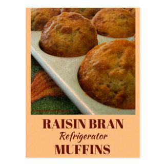 Cartão da receita dos muffin do refrigerador do