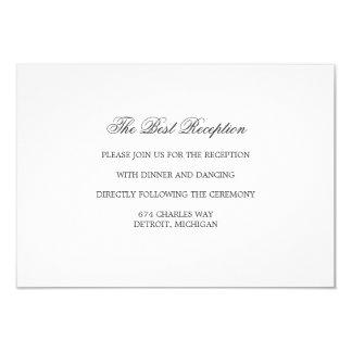 Cartão da recepção - a MELHOR série