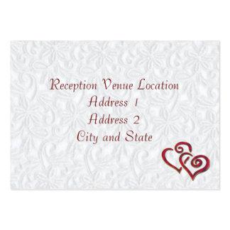 Cartão da recepção modelos cartões de visita