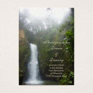 Cartão da recepção da cachoeira