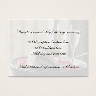 Cartão da recepção da celebração do casamento
