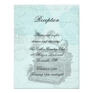Cartão da recepção das cartas de amor do casamento convite 10.79 x 13.97cm