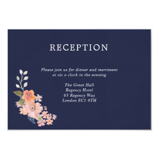 Cartão da recepção de casamento da aguarela do