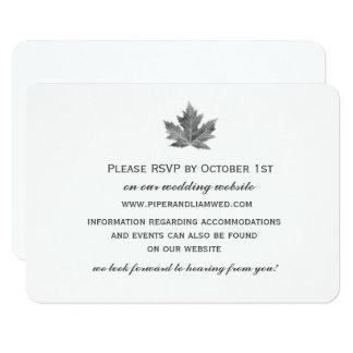 Cartão da recepção de casamento da folha de bordo