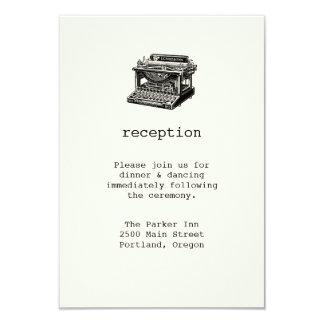 Cartão da recepção de casamento da máquina de convite 8.89 x 12.7cm
