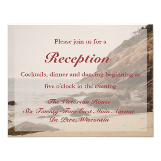 Cartão da recepção de casamento da praia - praia convite 10.79 x 13.97cm
