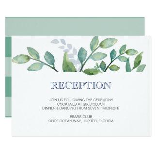 Cartão da recepção de casamento das HORTALIÇAS Convite 8.89 X 12.7cm