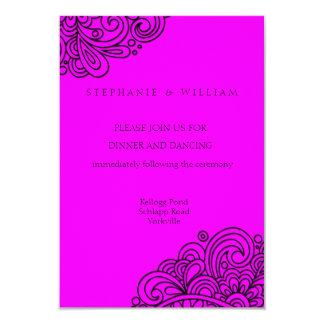 Cartão da recepção de casamento do redemoinho do convite 8.89 x 12.7cm