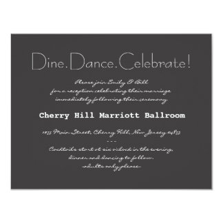 Cartão da recepção do convite do casamento da