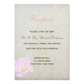 Cartão da recepção para o casamento simples do convite 11.30 x 15.87cm