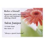 Cartão da referência com a margarida cor-de-rosa d modelos cartões de visita