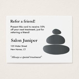Cartão da referência com pedras de equilíbrio