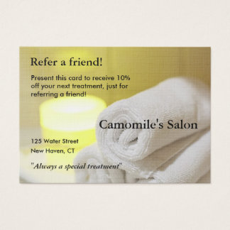 Cartão da referência com velas e toalhas