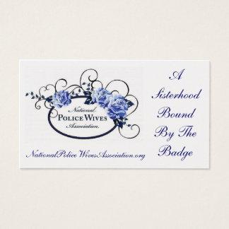 Cartão da referência da associação das esposas da