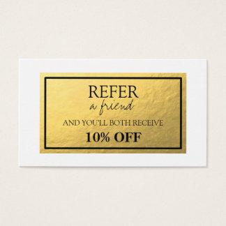 Cartão da referência da folha de ouro