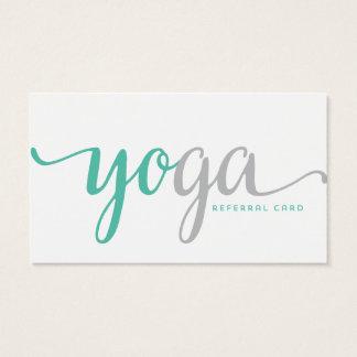 Cartão da referência da ioga