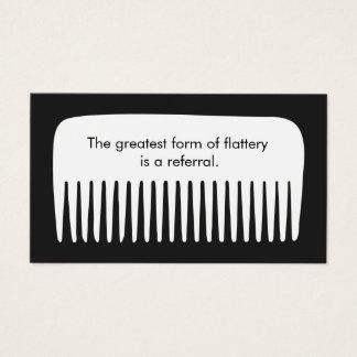 Cartão da referência do cliente do cabeleireiro do
