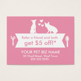 Cartão da referência do Groomer do cão -