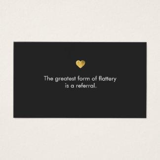 Cartão da referência do salão de beleza do coração
