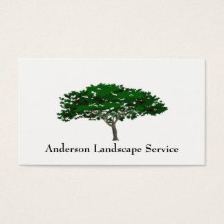 Cartão da remoção da árvore da paisagem