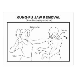 Cartão da remoção da maxila de Kung-Fu