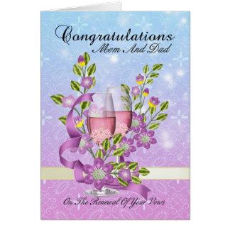 cartão da renovação do voto de casamento da mamã &
