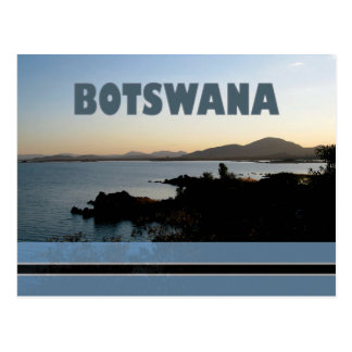 Cartão da represa de Botswana - de Gaborone