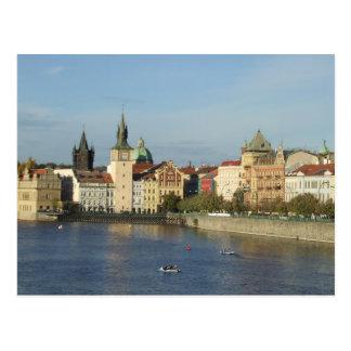 Cartão da república checa de Praga