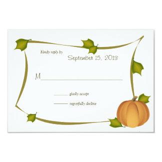 Cartão da resposta da colheita da abóbora da queda
