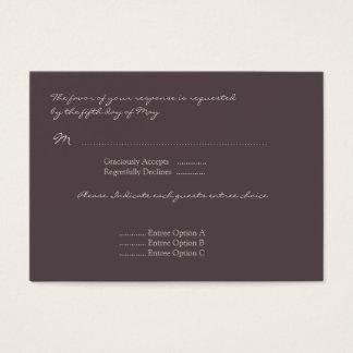Cartão da resposta da papoila da beringela