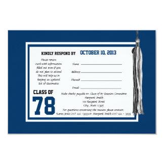 Cartão da resposta da reunião de classe convite 8.89 x 12.7cm