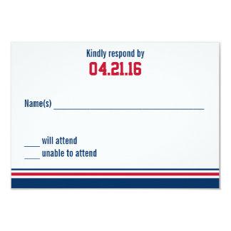 Cartão da resposta de Mitzvah do bar da listra da