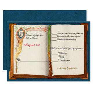 Cartão da resposta do casamento do conto de fadas