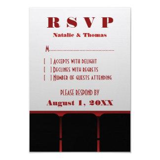 Cartão da resposta do cinema, vermelho convite 8.89 x 12.7cm