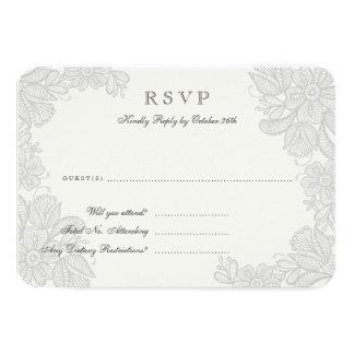 Cartão da resposta do laço do vintage convite 8.89 x 12.7cm