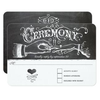 Cartão da resposta do quadro da cerimónia