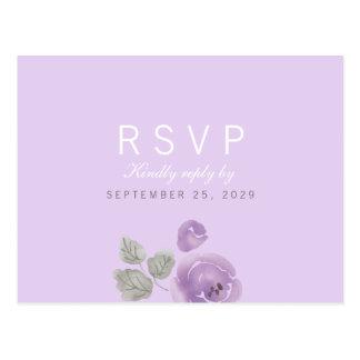 Cartão da resposta RSVP dos rosas da aguarela do