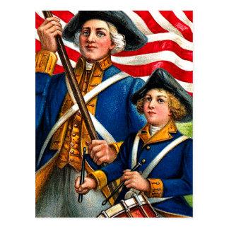 Cartão da Revolução Americana julho de quarto do