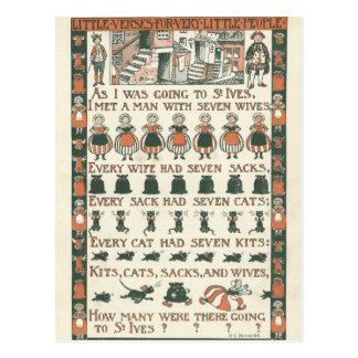Cartão da rima de berçário das coisas efêmeras do
