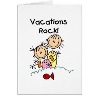 Cartão da rocha das férias