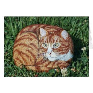 """Cartão da rocha do gato do """"jaspe"""""""