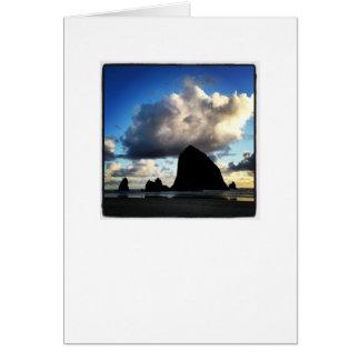 Cartão da rocha do monte de feno