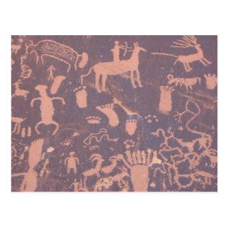 Cartão da rocha dos Petroglyphs