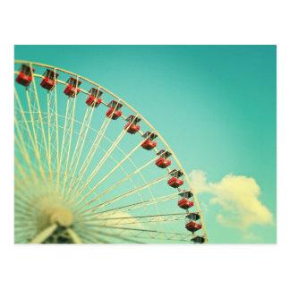 Cartão da roda de Ferris do cais do marinho de