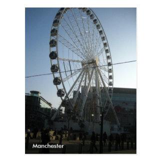 Cartão da roda de Manchester