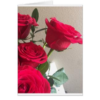 Cartão da rosa vermelha