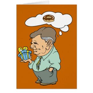 Cartão da rosquinha do pai