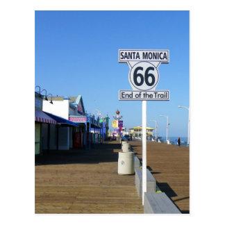 Cartão da rota 66 de Santa Monica!