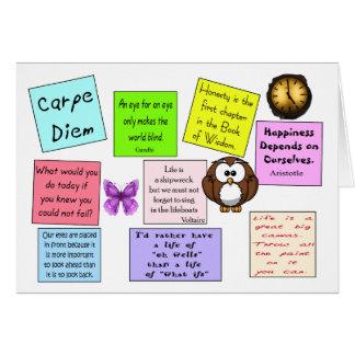 Cartão da sabedoria