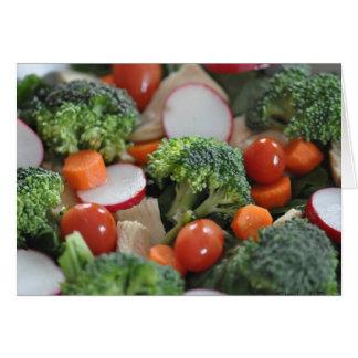 Cartão da salada